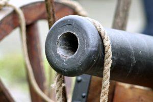 Op de forten van Jamaica stonden uiteraard kanonnen.