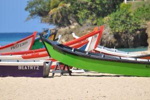 Mooie bootjes op het strand van Port Maria. Hierdoor krijg je een leuke sfeer.